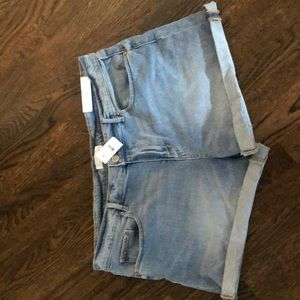 Never worn blue jean shorts! Perfect condition!